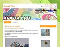 Andrea Faye Art Portal Website
