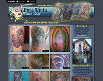 Pura Tinta Tattoo Shop Website