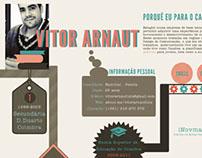 Curriculum Vitae - Infographic (Vitor Arnaut)