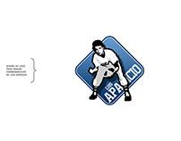 Diseño de logo para parche conmemorativo de L. Aparicio