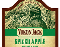 Yukon Jack Whiskey Labels Illustrated by Steven Noble