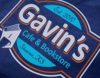 Gavin's Cafe & Bookstore Branding