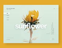 Advice from a Sunflower, website design