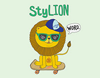 Sty-LION Stylish Kid's T-shirt and Greeting Card