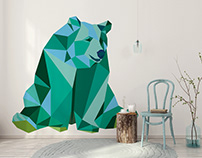 Myloview Geometric Animals Collection - home decor