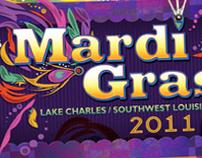 """Mardi Gras 2011: Southwest Louisiana"" Rack Card Design"