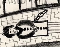 Illustration - Op een keer liep - Daniil Charms