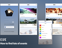 EVE - Concept UI Design for an Event App