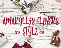 Amaryllis love. Flowers style.