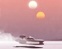 """Tatooine"" Inspired 13x19 Inch Print"