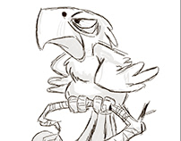 Drawing of a parrot