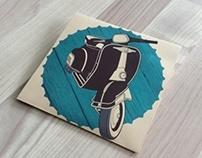 Folder design: Vespafestival