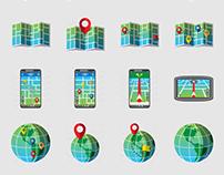 Geolocation icon set