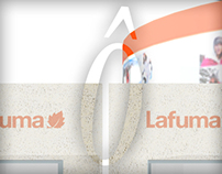 welcome desk and panel research for Lafuma Booth