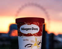 A photoshoot and posters for Häagen-Dazs SA