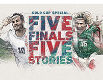 5 Finals 5 Storys, MLS Soccer.com GoldCup illustrations