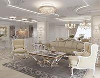 Classic interior 3D visualization
