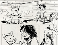 Untitled comic, inked