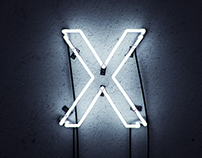 X - 3D Neon sign