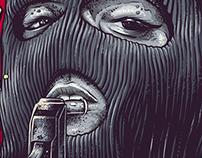 Illustration Poster - Inimigos Públicos - Camaçari - BA