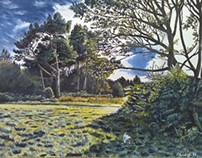 Ashdown Forest oil painting