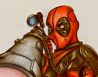 Deadpool traditional art
