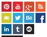 Social Media Icons - Modern Metro