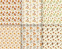 autumn leaves pattern collection 2