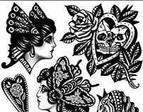 Tattoo flashes Black traditional