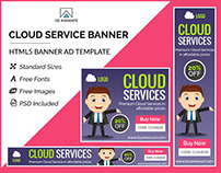 Cloud Service Banner - HTML5 Ad Template