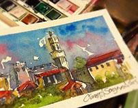 Watercolor Postcards