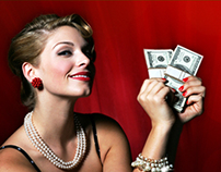 Landing page and banners for online casino