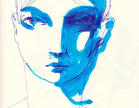 sketches in blue