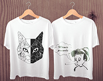 Projekt ilustracji na koszulki