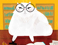 Librarian Cat