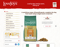 Lovejoys Pet Food - Responsive web design