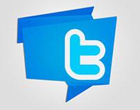 Origami Social Media Icons