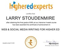 Web and Social Media Writing for Higher Ed Certificate