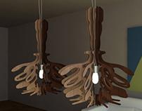 """Light into the shadow"" - pendant lamp series"
