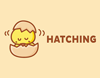 Hatching Chicken Egg | Free Mascot Cartoon Logo Design