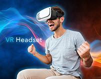 Webdesign comcept VR headset. Концепция дизайна