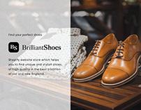 BrilliantShoes Shopify website store | UI/UX design