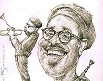 Dizzy Gillespie, caricature