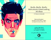ZOOLANDER / plakat wystawy w Galleries 1988 (LA)