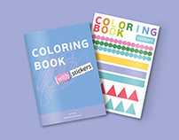 Coloring Book with stickers
