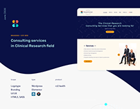 UI: Branding & Website Clinical Research