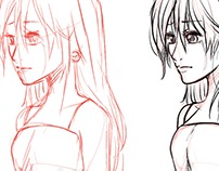 sad lady - sketch