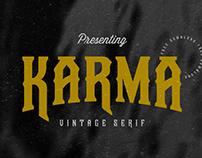 KARMA REGULAR - FREE VINTAGE SERIF FONT