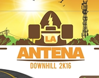Logo La Antena Downhill + Volante (Flyer)