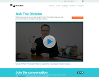 Ask The Dictator - Landing Page